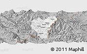 Gray Panoramic Map of Kolonjë
