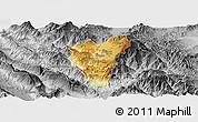 Physical Panoramic Map of Kolonjë, desaturated