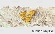 Physical Panoramic Map of Kolonjë, lighten