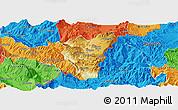 Physical Panoramic Map of Kolonjë, political outside