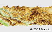 Physical Panoramic Map of Kolonjë