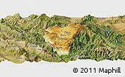 Physical Panoramic Map of Kolonjë, satellite outside