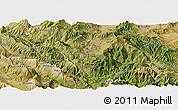 Satellite Panoramic Map of Kolonjë