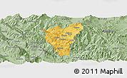 Savanna Style Panoramic Map of Kolonjë