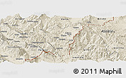 Shaded Relief Panoramic Map of Kolonjë