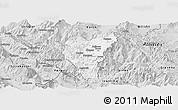 Silver Style Panoramic Map of Kolonjë