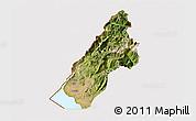 Satellite 3D Map of Koplik, cropped outside