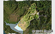 Satellite 3D Map of Koplik, darken