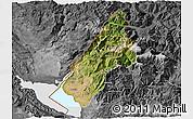 Satellite 3D Map of Koplik, desaturated