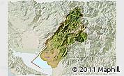 Satellite 3D Map of Koplik, lighten