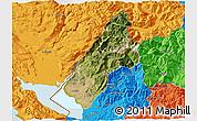 Satellite 3D Map of Koplik, political outside