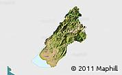 Satellite 3D Map of Koplik, single color outside