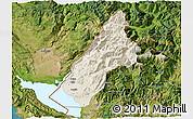 Shaded Relief 3D Map of Koplik, satellite outside