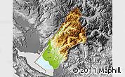 Physical Map of Koplik, desaturated