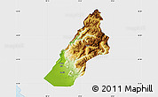 Physical Map of Koplik, single color outside