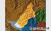Political Map of Koplik, darken