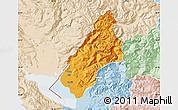 Political Map of Koplik, lighten