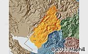 Political Map of Koplik, semi-desaturated