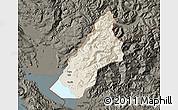 Shaded Relief Map of Koplik, darken