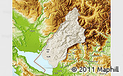 Shaded Relief Map of Koplik, physical outside