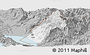Gray Panoramic Map of Koplik