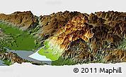 Physical Panoramic Map of Koplik, darken