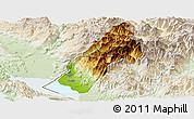 Physical Panoramic Map of Koplik, lighten