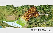 Physical Panoramic Map of Koplik, satellite outside