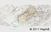 Shaded Relief Panoramic Map of Koplik, lighten