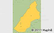 Savanna Style Simple Map of Koplik