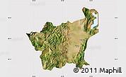 Satellite Map of Korçë, cropped outside