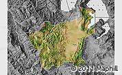 Satellite Map of Korçë, desaturated