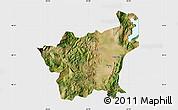 Satellite Map of Korçë, single color outside