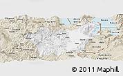 Classic Style Panoramic Map of Korçë
