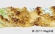 Physical Panoramic Map of Korçë