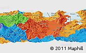Political Panoramic Map of Korçë