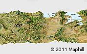 Satellite Panoramic Map of Korçë