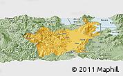 Savanna Style Panoramic Map of Korçë