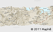 Shaded Relief Panoramic Map of Korçë