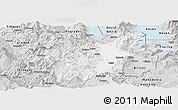 Silver Style Panoramic Map of Korçë