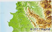 Physical 3D Map of Krujë