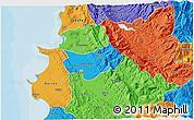 Political 3D Map of Krujë