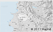 Silver Style 3D Map of Krujë