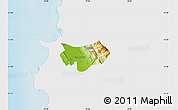 Physical Map of Krujë, single color outside