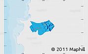 Political Map of Krujë, single color outside