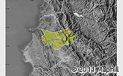 Satellite Map of Krujë, desaturated