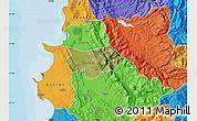 Satellite Map of Krujë, political outside