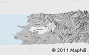 Gray Panoramic Map of Krujë