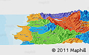 Political Panoramic Map of Krujë