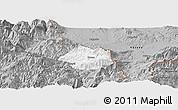 Gray Panoramic Map of Krumë